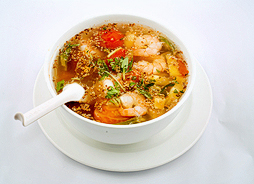 Sour Soup with King Prawn